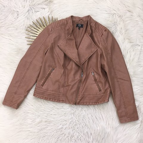 48e9b123573 G By Giuliana Womens XL Faux Leather Moto Jacket • Snake no - Depop