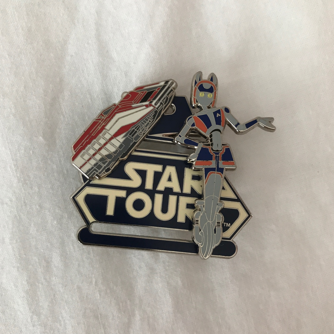 STAR TOURS ENAMEL PIN FROM DISNEY! would look super