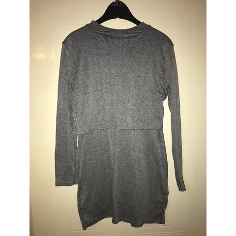 cb2227168 Grey overlap dress (looks like a top and skirt)! Circular to - Depop