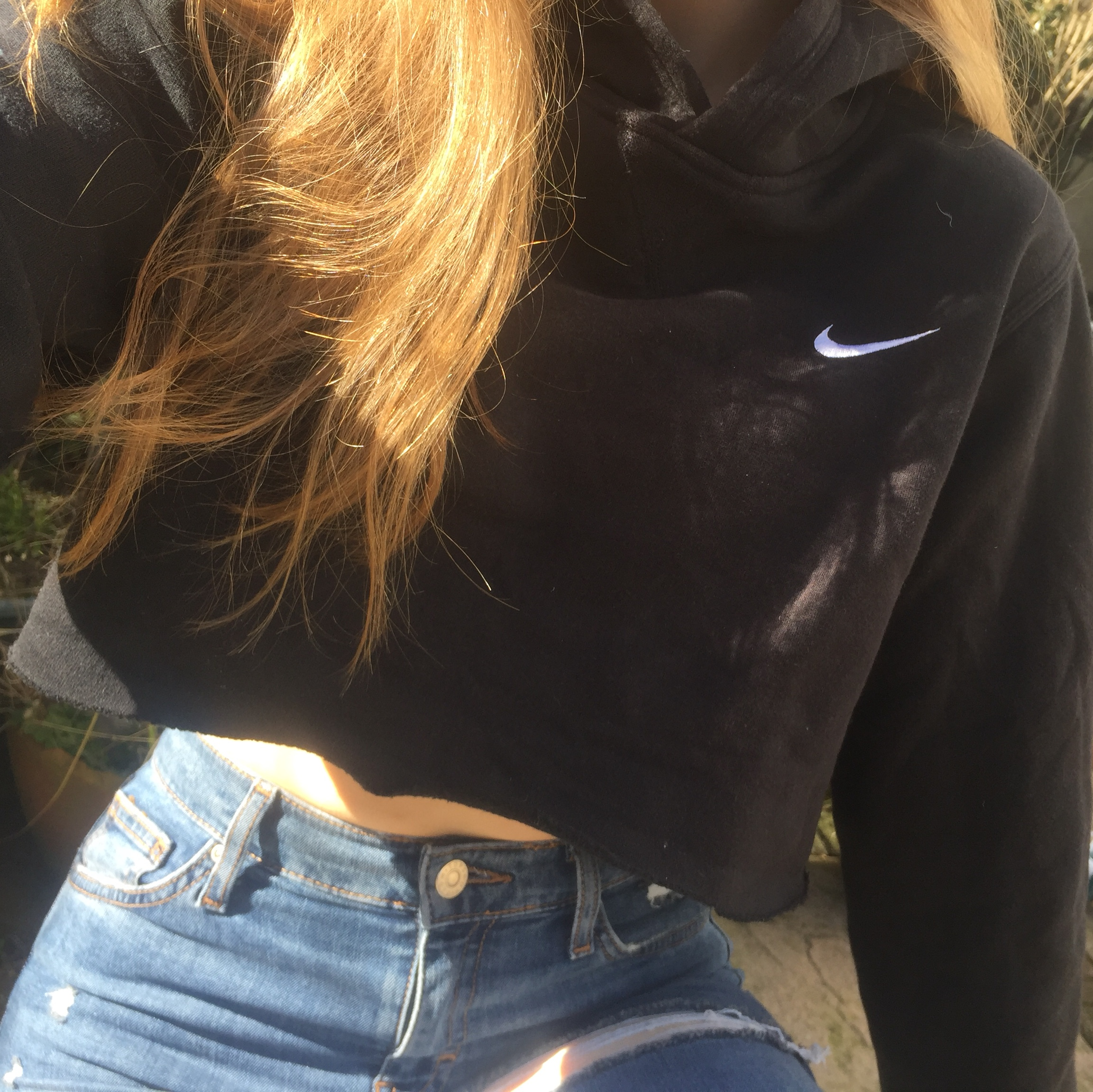 Nike hoodie extremely cropped bought from Topshop Depop