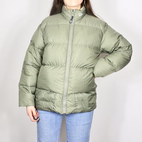e18dcc994 UNISEX khaki vintage Nike down puffer coat - this is in and - Depop