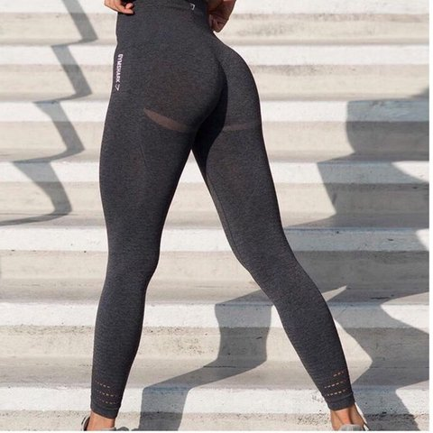 0f8550fdc3ccb @rubydarbyshire. last year. Halifax, United Kingdom. Gymshark leggings. Brand  new workout tags. Seamless collection. Black marl. Size small ...