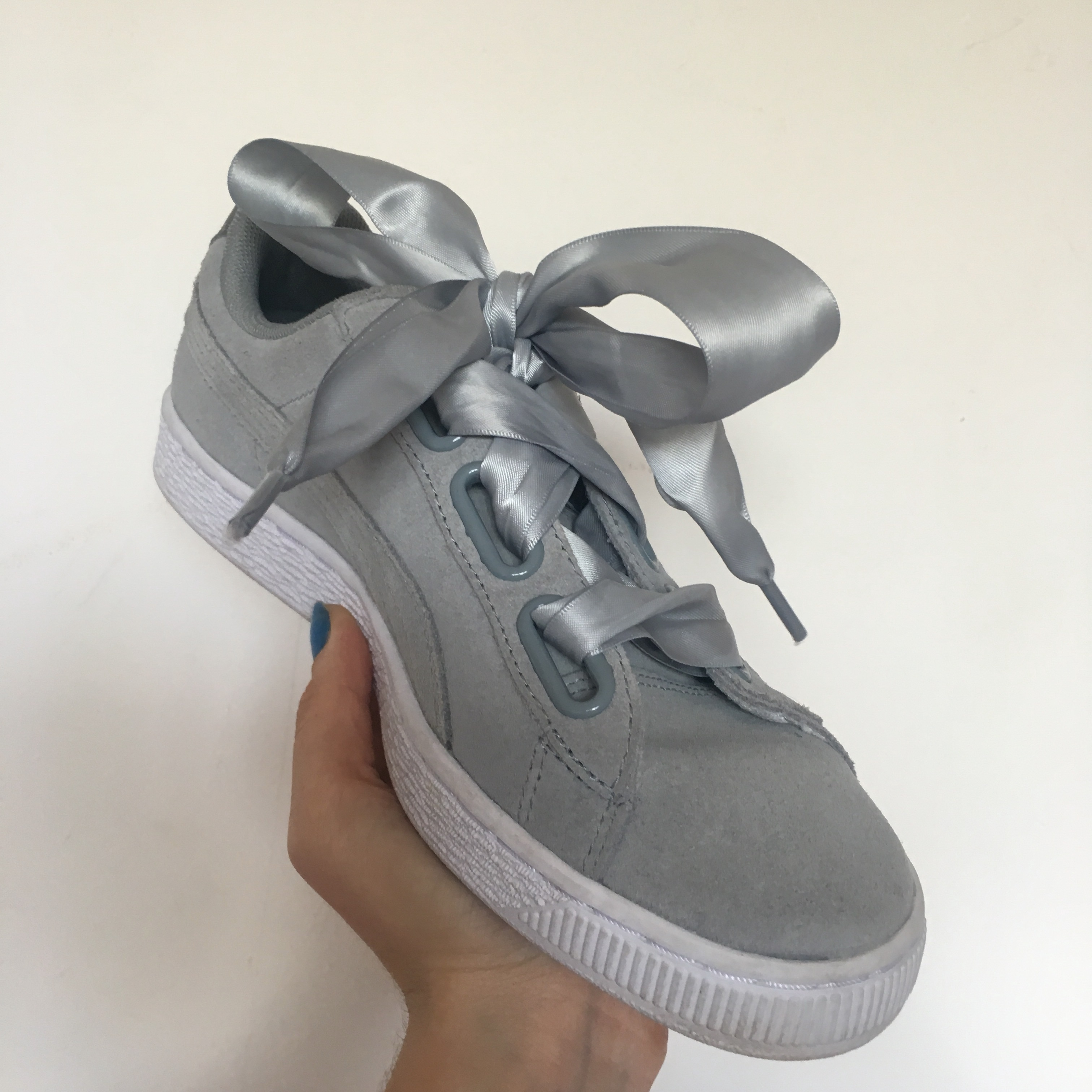 Puma Suede Ribbon Trainers - Suede