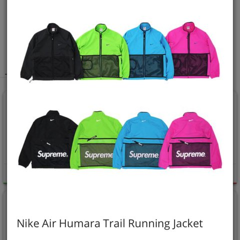 wholesale dealer d8037 4ca14  spec77. 2 years ago. Leeds, United Kingdom. PROXY  Supreme x Nike Air  Humara Trail Running Jacket.