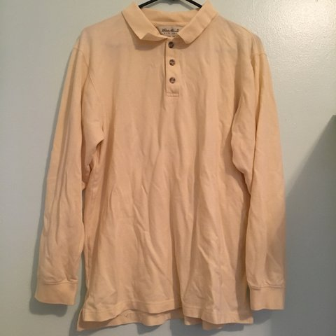 9d5c121d8dd7b6 beautiful pale yellow shirt from eddie bauer labeled a small - Depop