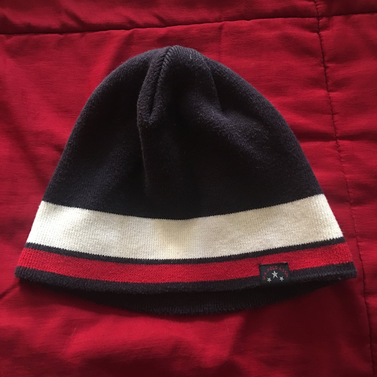 c38644c0731 Navy blue and red beanie!! 🔥 u.s. polo assn reminds me of - Depop
