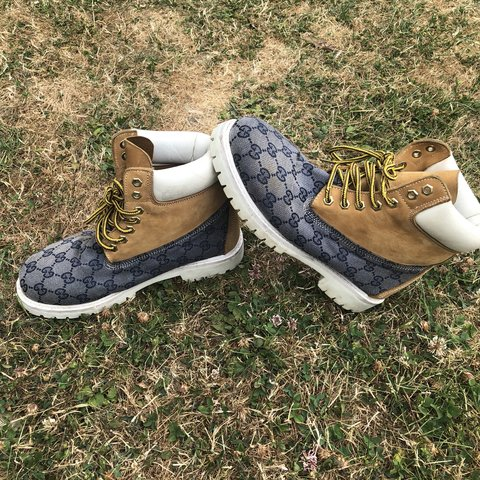 a85739673 Reduced by £15. Customised timberlands original boot with I - Depop
