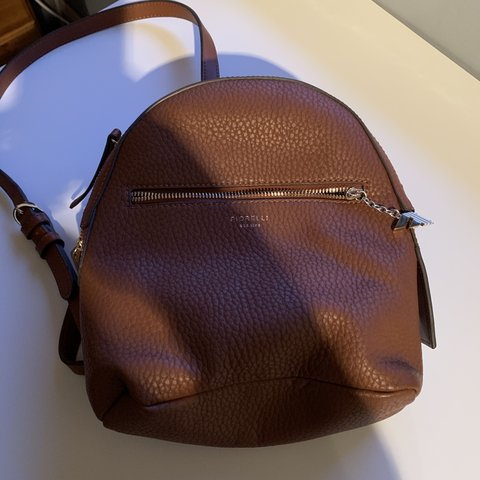 Small size fiorelli backpack brown. Used once - Depop