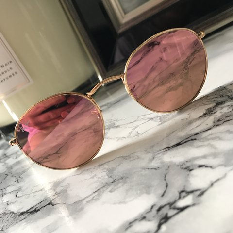 c5fdc7449b Ray ban round rose gold glasses bought from asos for £143 a - Depop