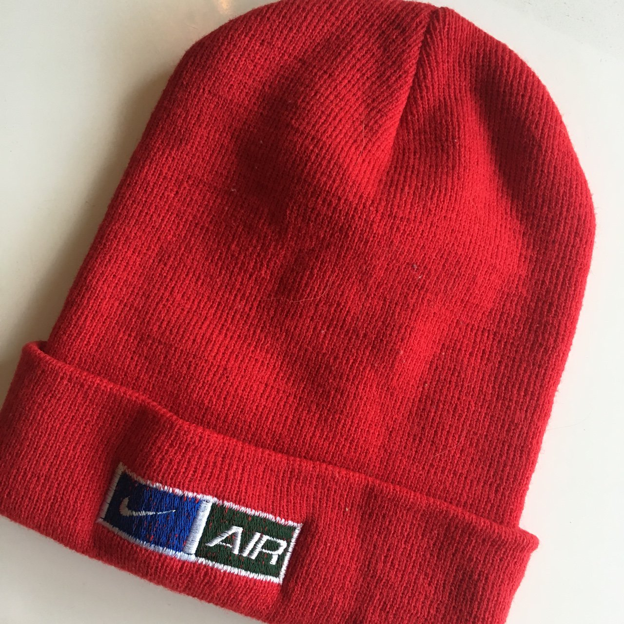 Vintage Red Nike Air beanie. I love this thing but the only - Depop 5f73c76e91a