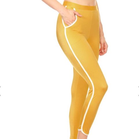 Poprageous mustard Yellow track pants and matching track bra - Depop c8ebf5d5f