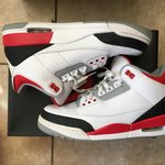 baeaf8e7626 Air Jordan 3 Fire Red UK 11 in near DS condition only worn a - Depop