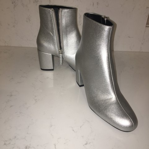 0223d43e4e7 New Never been worn silver Zara boots RRP  £49.99 so selling - Depop