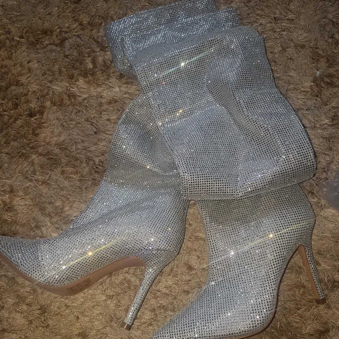 ALDO CLAIRA CRYSTAL SLOUCH BOOT Limited
