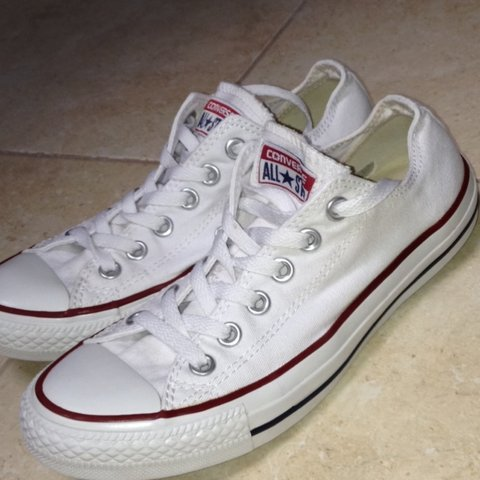 47956bf08c7a Genuine white all star converse. Size 5. Great condition