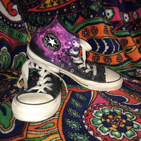 824d574582 size 8 womens galaxy converse with unicorn on the outside. a - Depop