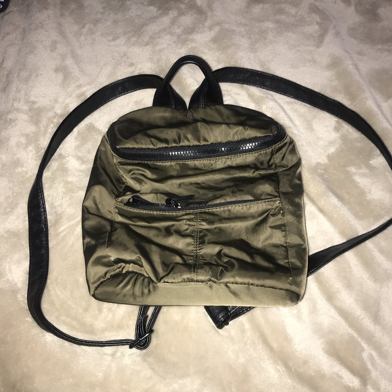 Super Cute Olive Green Rucksack Bag From Target Backpack Depop