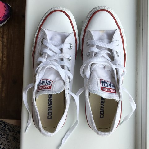 Genuine white Converse. Only worn a couple times. Great than - Depop 697c73a1e