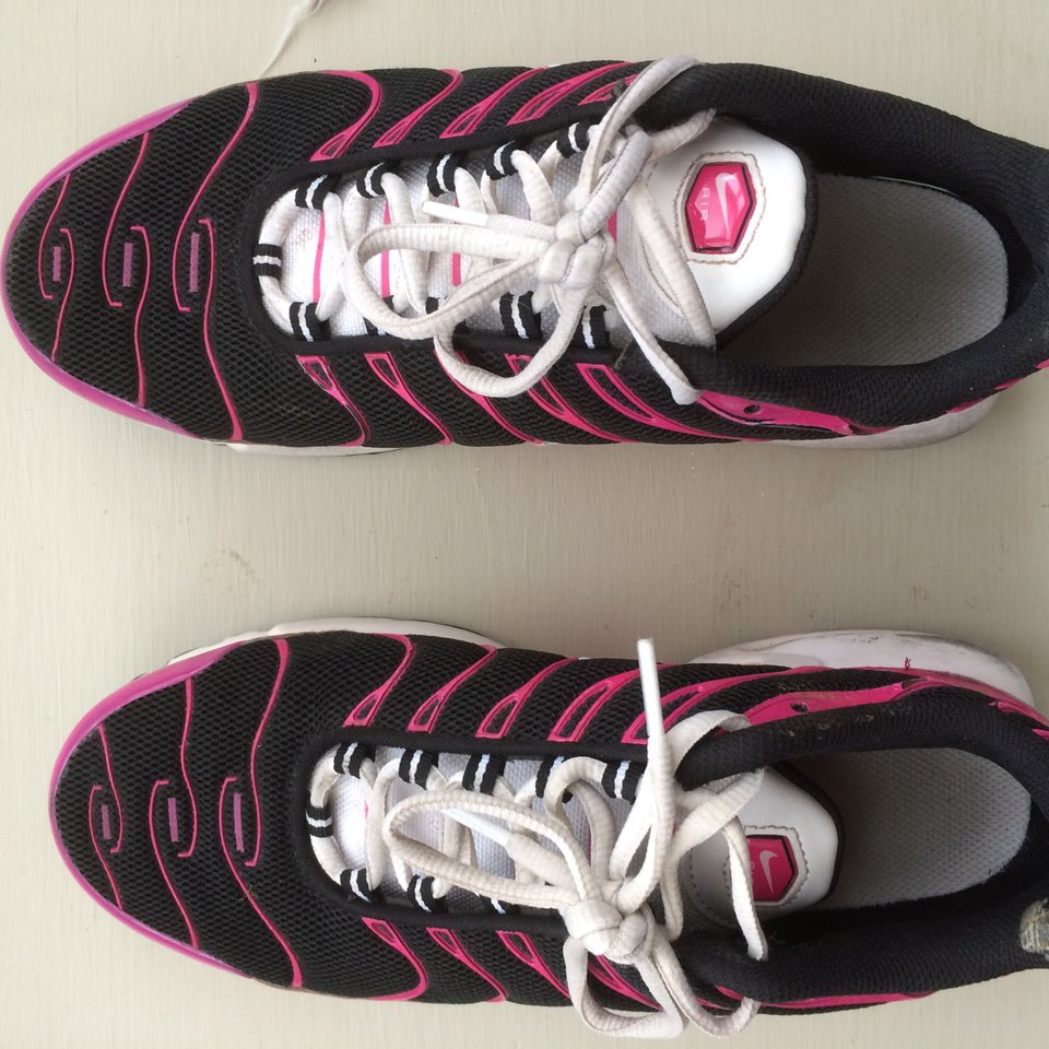 Nike pink and black women's tns with