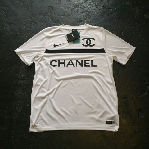 6fc6d7562f4 Nike x Chanel football top jersey . Brand new with tags. is - Depop