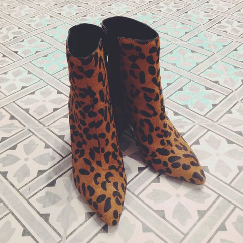 be35c87325b6 @meg_whyte. 2 years ago. Morda, Oswestry, UK. Topshop block heel ankle boots.  Leopard print ...