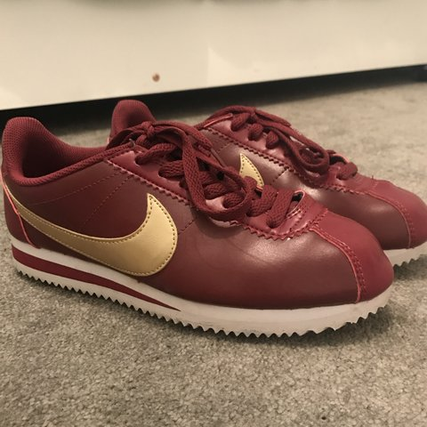 super popular 67a70 68288 new arrivals gold and red nike cortez 91ac2 823f2