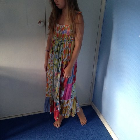 99300bc6c5c Colourful maxi dress sized 9-10 very good condition 💓 - Depop