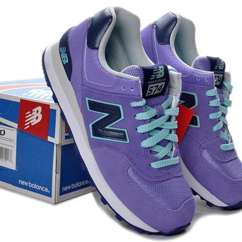 a2ef76e073c0c @chloegs. 3 years ago. London, UK. New balance purple and blue trainers. As  good as new. Size 5 ...