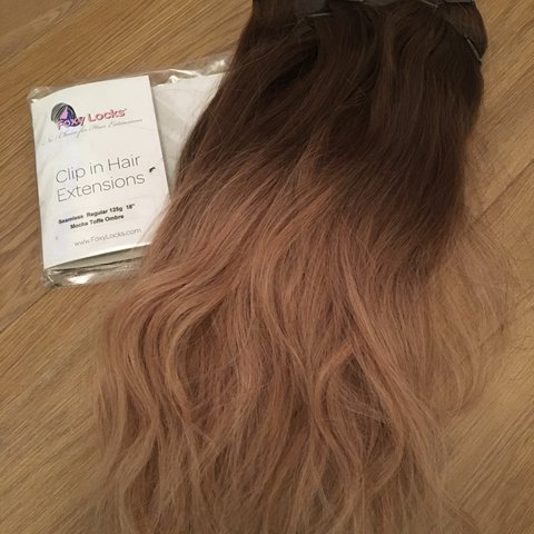 Foxylocks Mocha Toffee Ombré Clip In Hair Extensions Worn A Depop