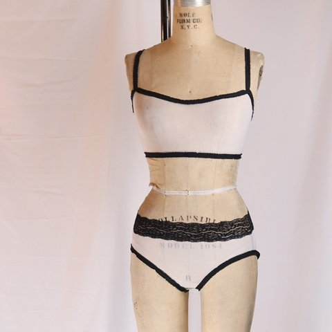 Mesh and lace bra and panties set. New never worn Size 6-8 - Depop 62d520541