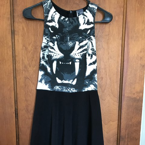 baa3baf600 Sparkle   fade brand tiger face skater dress. Size small. - Depop