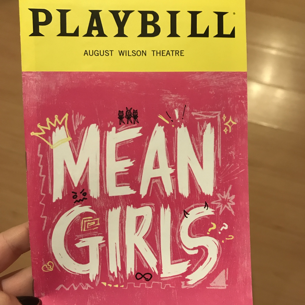 mean girls broadway playbill with the new cover with    - Depop