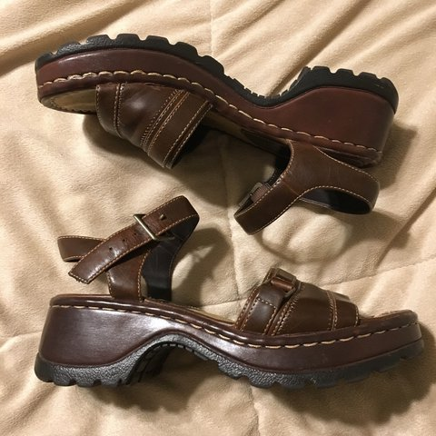 aac10ce7ef4 deadstock mudd chunky heel strapped sandals. is made of faux - Depop