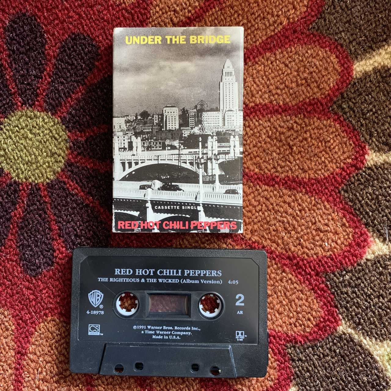 Red Hot Chili Peppers Under The Bridge Single Under The Bridge Rhcp Cassette Single Red Hot Depop