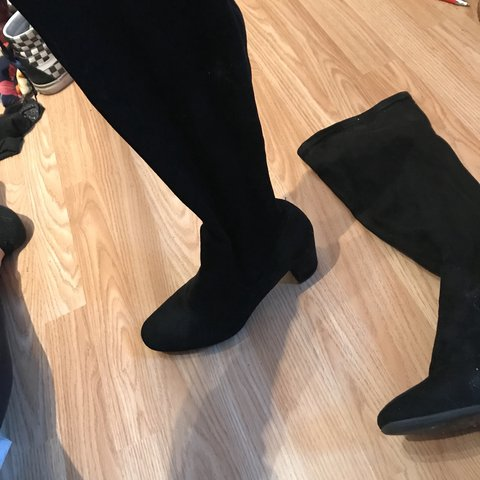 Velvet knee high boots size 5 great condition Ignore Mac - Depop 78b32e135