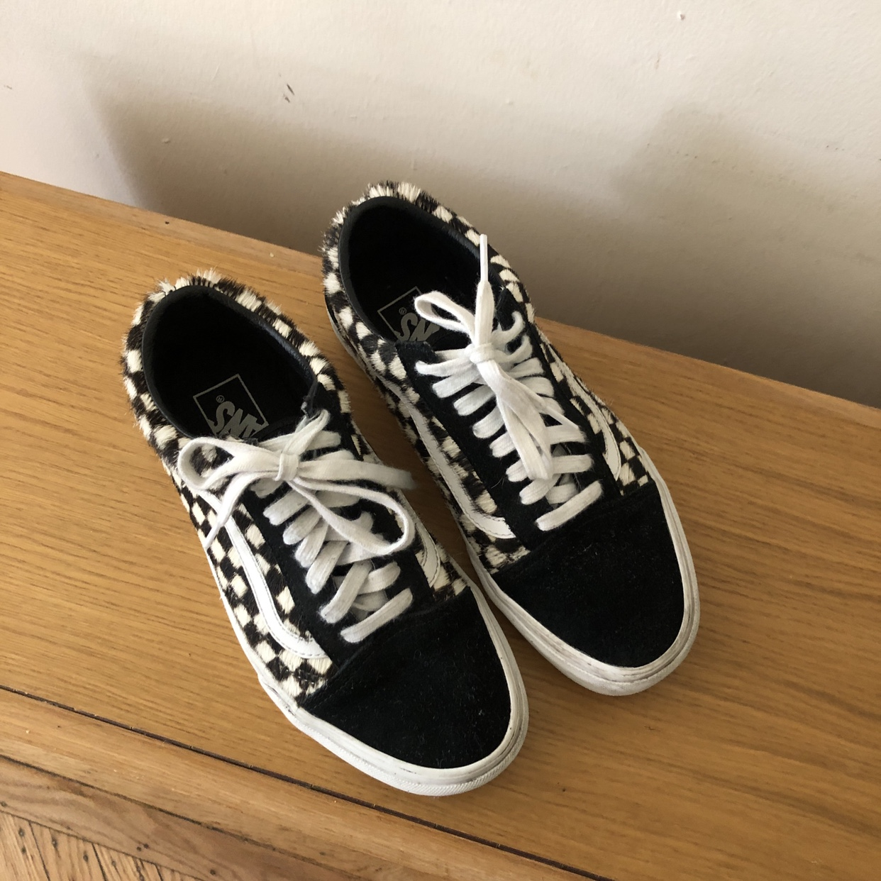 VANS X MADEWELL old skool calf hair check sneakers Depop