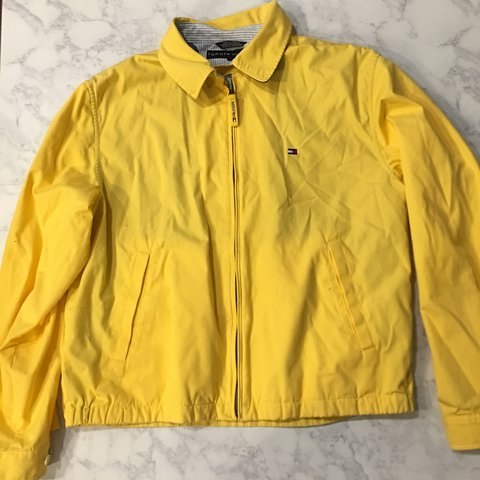62881d541 @daisyvm. 2 years ago. Denver, United States. Vintage Tommy Hilfiger bright yellow  jacket!