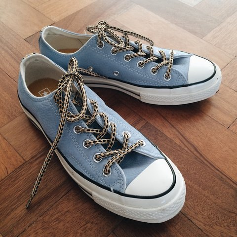 6b2002a68781 Converse Chuck Taylor 1970 OX  Jewelled Egg  blue and white - Depop