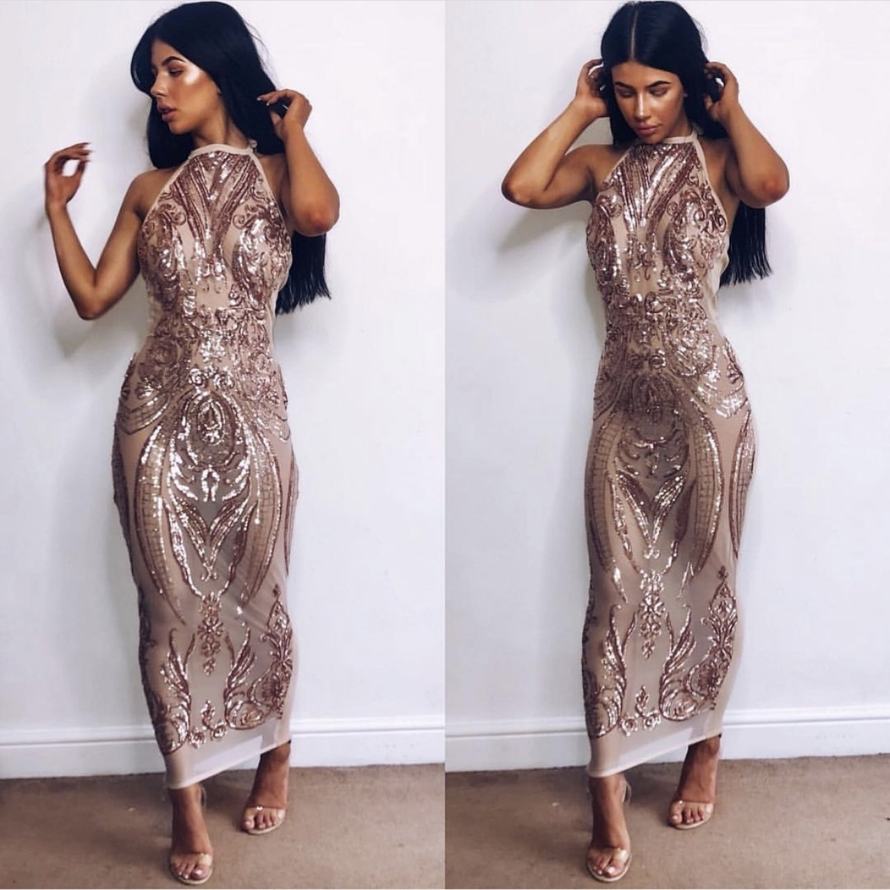 Infinity Dress In Rose Gold With Slightly Different Depop