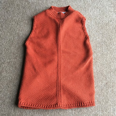 0145714a63 @emiliah1234. 2 years ago. Cumbria, United Kingdom. Orange high neck  knitted sleeveless top ...