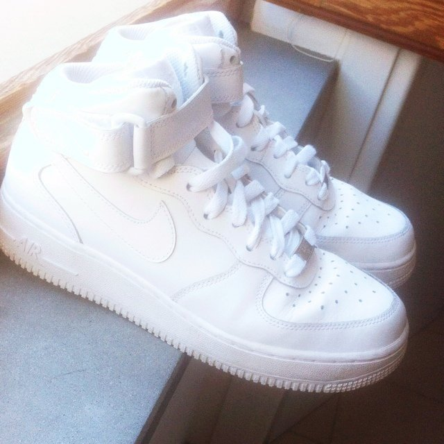 nike air force 1 nere e bianche alte