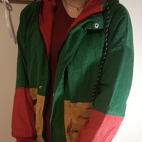 Hooded Corduroy Jacket Bought Wrong Size From Zaful Tags Depop