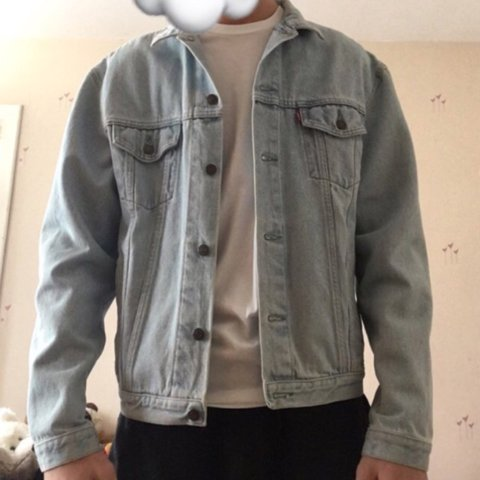 37c083edad Vintage Levi denim jacket in a light blue colour. label says - Depop