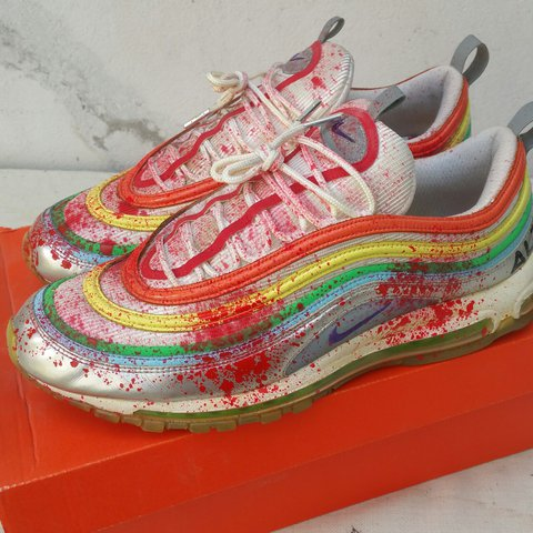 wholesale dealer 838df 13c72 ... 50% off 12 nike air 97 custom prenotata us attesa rainbow depop max 5 in