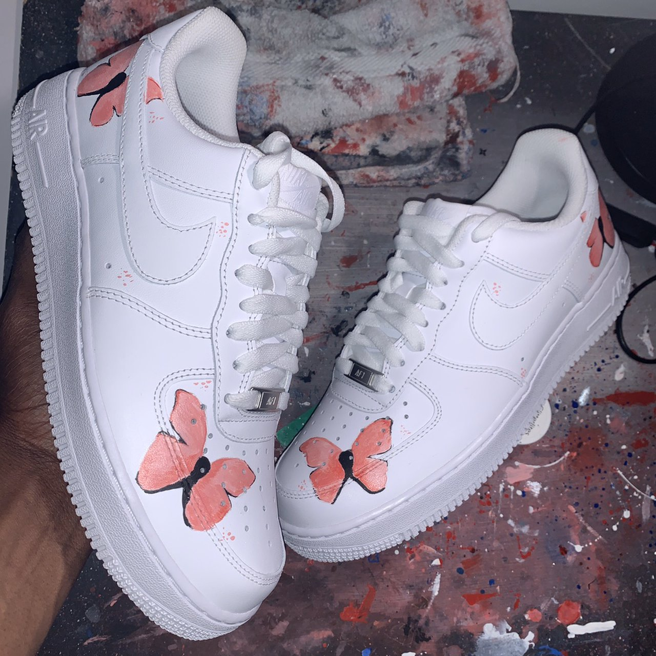 lil skies air force ones butterfly