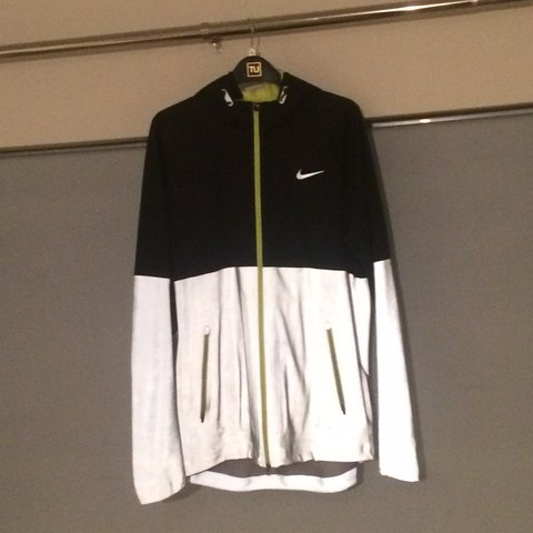 46d844ed1015 Nike shield flash 3m jacket black volt reflective as the one - Depop