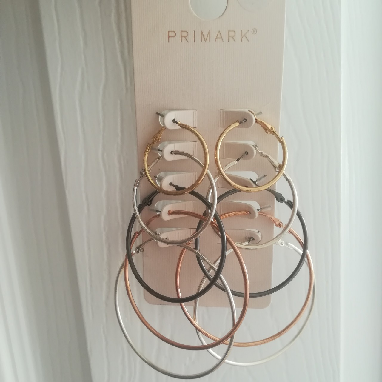 c103944198856 Primark 5 pack hoop earrings, brand new 2 silver... - Depop