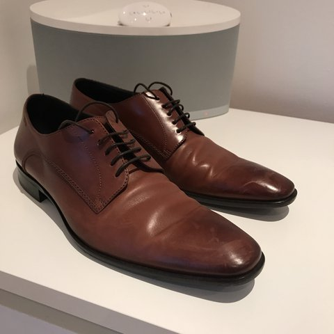 0b6e0fe914a6 Hugo boss smart brown leather shoes. UK size 9. Worn no more - Depop