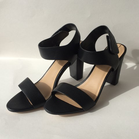 390bf13c0a1 Black heels with velcro strap from Aldo. Comes with original - Depop