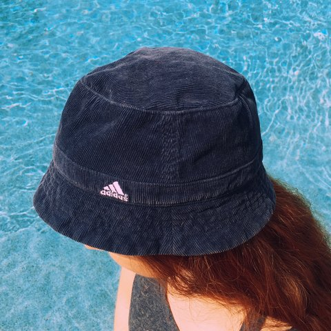 Adidas navy blue corduroy bucket hat. Great condition and an - Depop 4fa4505abf6